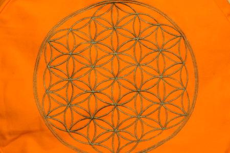 8 zafu orange fleur de vie